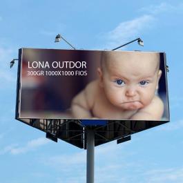 Lona Outdor 300gr 1000x1000 Fios    Sem refile