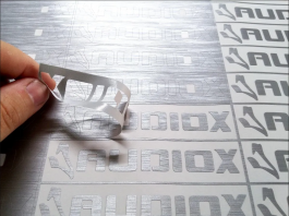 Recorte Eletrônico Escovado  1x0 Prata Sem acabamento